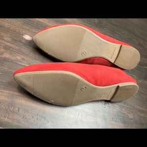 Old Navy Shoes - Red Pointy Toe Ballet Flats